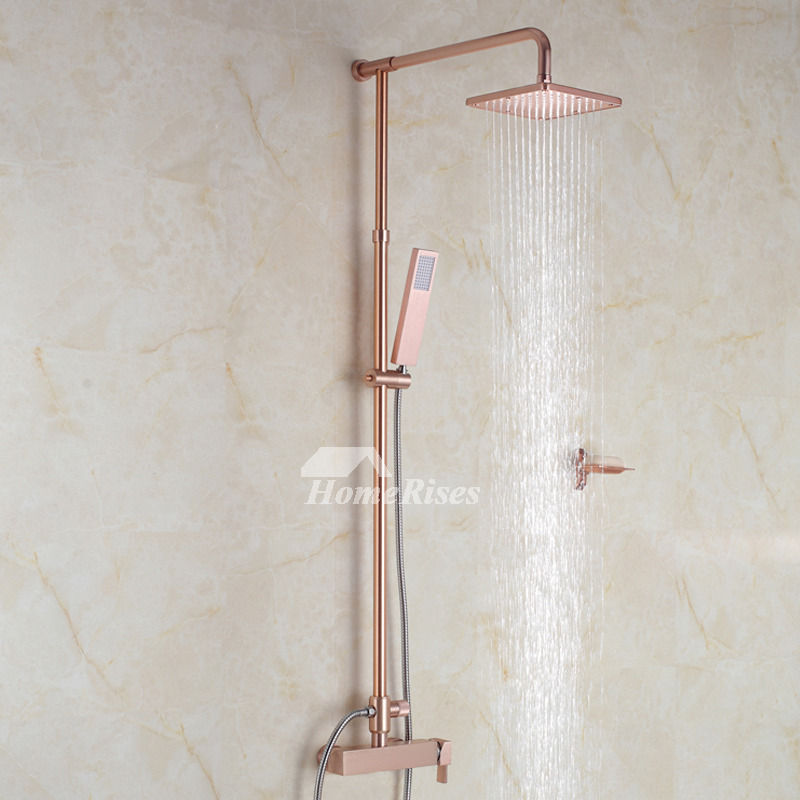 Shower Faucets Champagne Gold Wall Mount Shower Fixtures