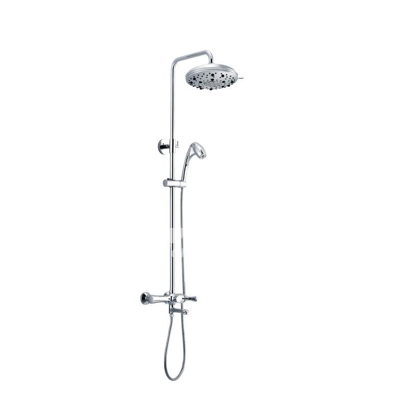 Modern Silver Chrome Shower Faucet Brass Designer Wall Mount