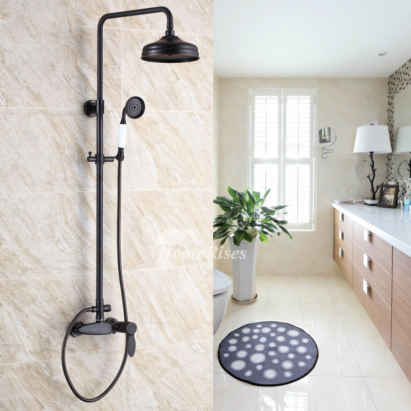 Shower Systems Oil-Rubbed Bronze Wall Mount Single Handle Vintage