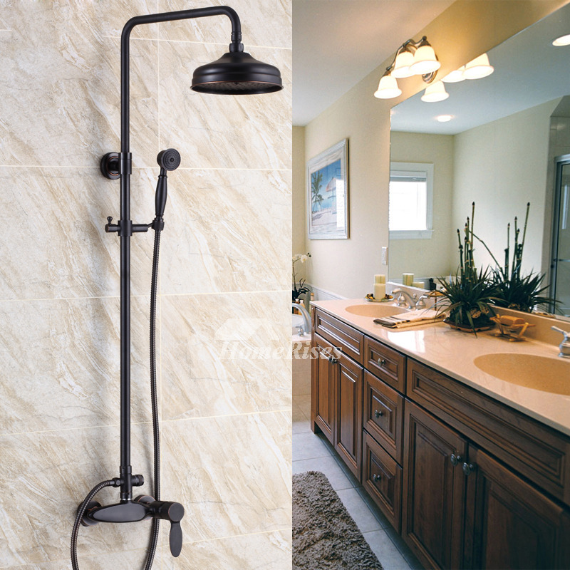 Shower Systems Oil Rubbed Bronze Wall Mount Single Handle