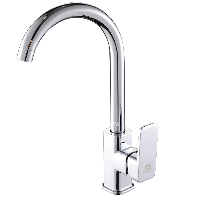 discount modern kitchen faucets brass chrome single hole silver