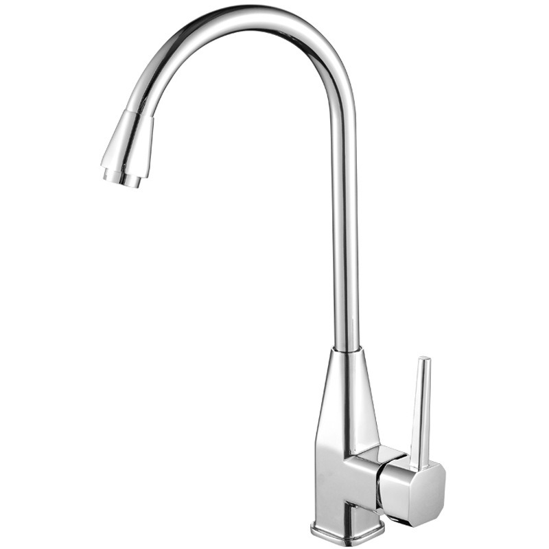 cheap kitchen faucet cheap kitchen faucets gooseneck shaped single handle silver 8608