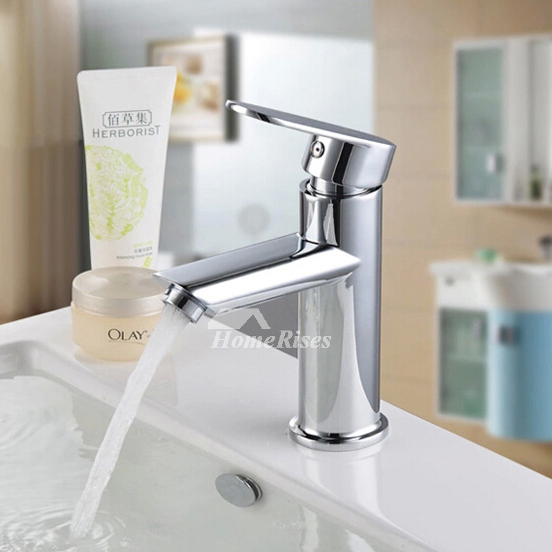 Chrome Vessel Sink Faucets Brass Single Hole Bathroom Best
