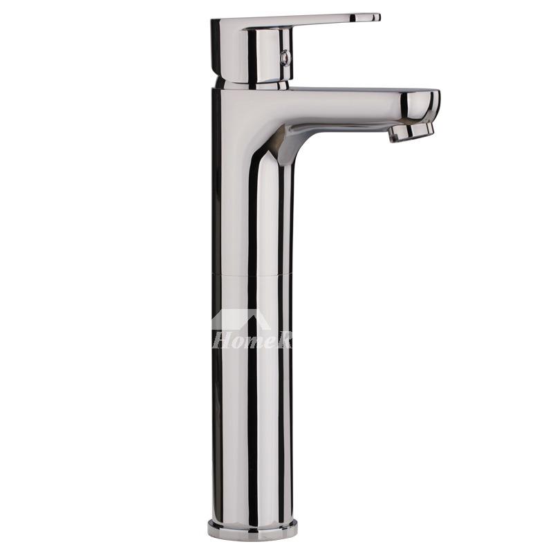 Single Hole Bathroom Faucet Brass Chrome Brass Silver Smooth