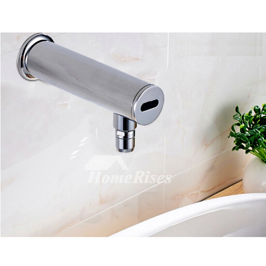 Touchless Bathroom Faucet Wall Mount Silver Brass Chrome Best