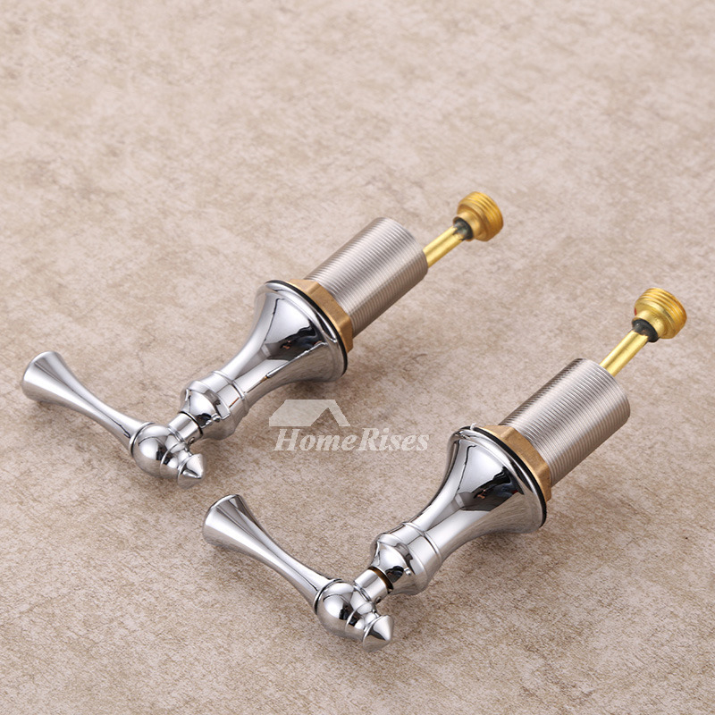 Widespread Bathroom Faucet Silver 3 Hole Chrome Brass Good Quality ...