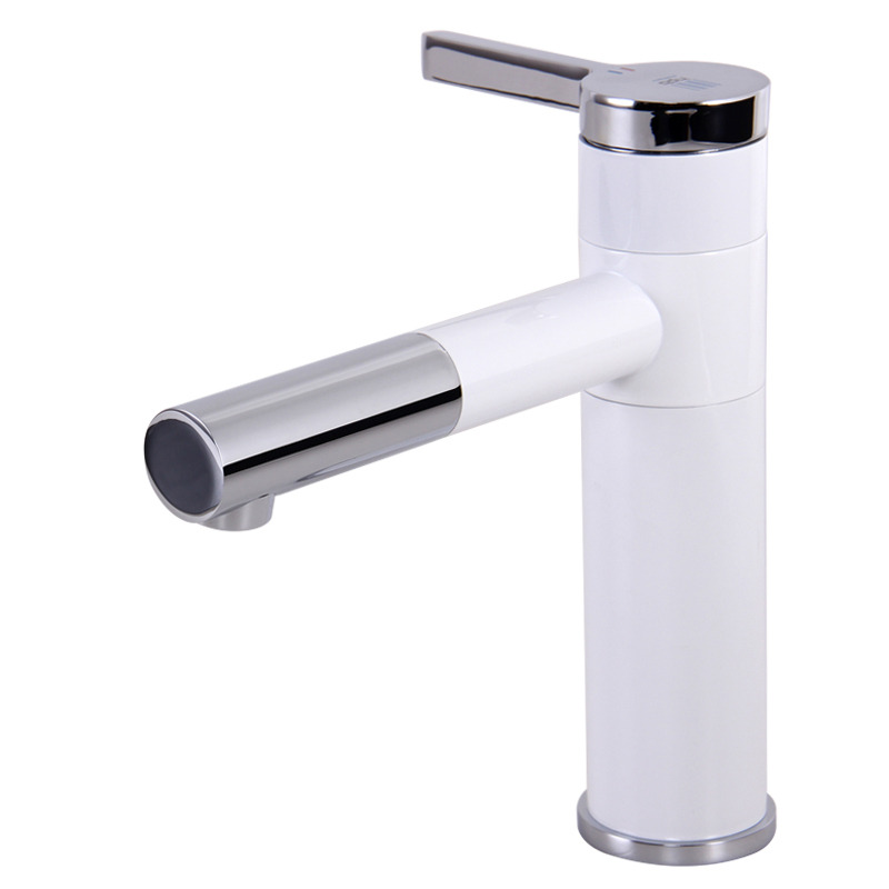 White Bathroom Faucets Rotatable Painting Modern Vessel Quality