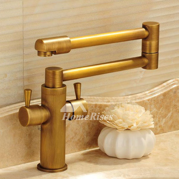 Gold Folding Bathroom Sink Faucets