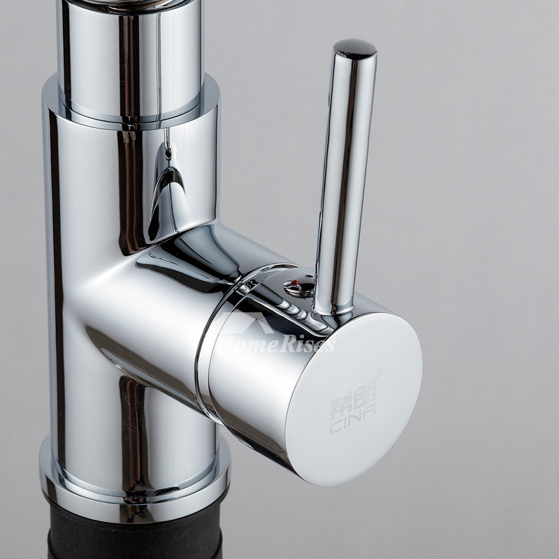 coiled kitchen faucet gooseneck rotatable pull out sprary silver chrome rh homerises com Kitchen Sink Faucets coiled kitchen faucet