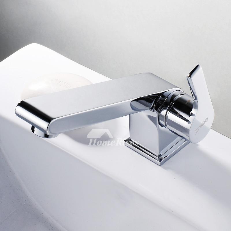 Single Hole Bathroom Faucet Brass Chrome Silver Vessel 1 Handle