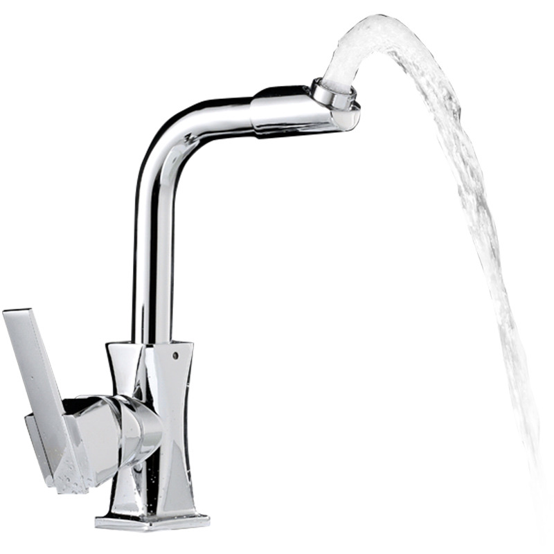 Cheap Kitchen Faucets Silver Modern Vessel Rotatable Chrome Brass