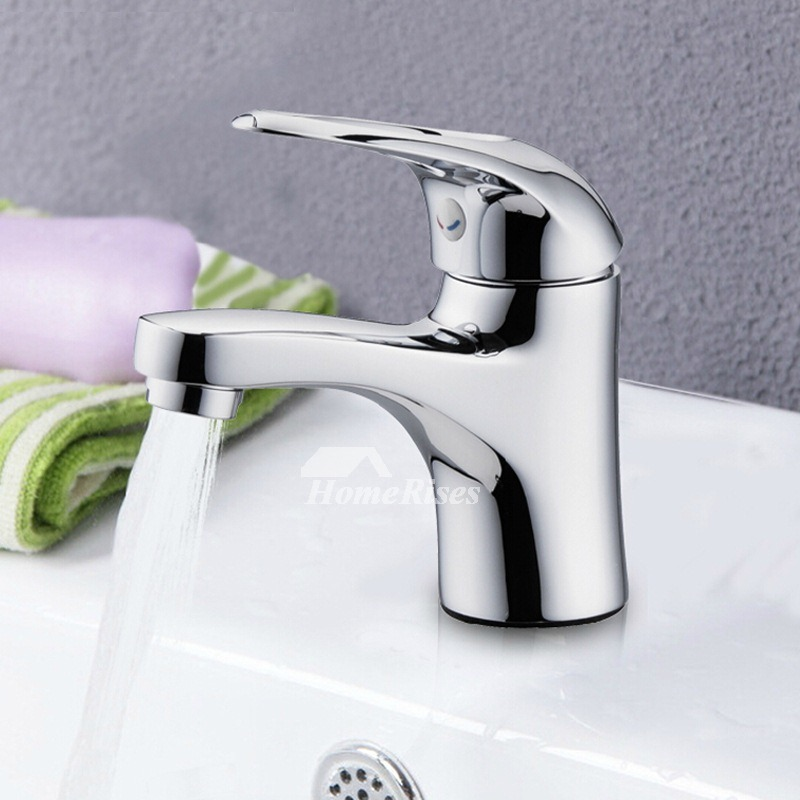 Sink Faucets Silver Rotatable Chrome Single Handle Brass