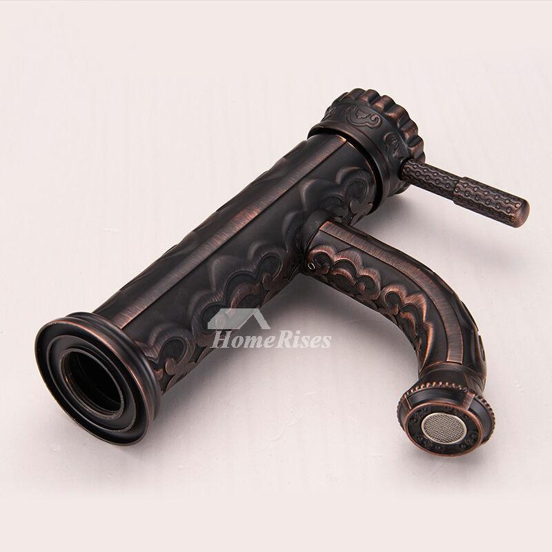 Antique Bronze Bathroom Faucet Vessel One Hole Single Handle Black