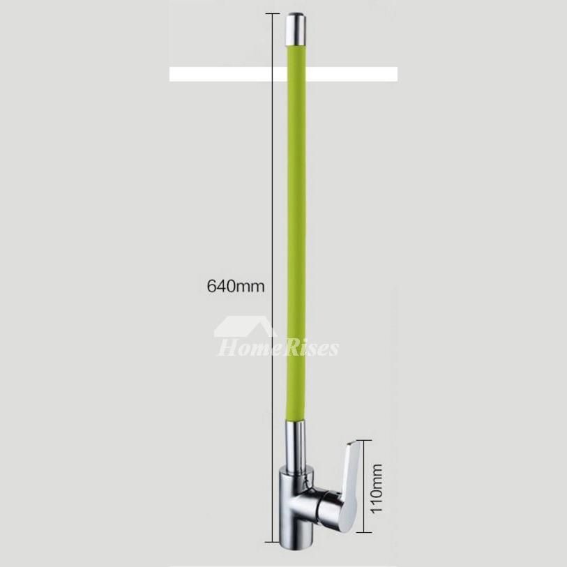 Kitchen Faucets Rotatable Cheap Centerset Gooseneck Chrome