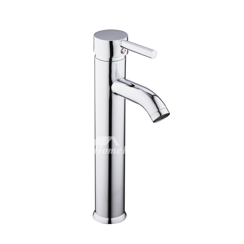 Vessel Sink Faucets Brass Single Handle Chrome Brass Filtering