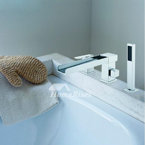 chrome bath faucet waterfall 3 piece brass chrome silver 3 hole. Black Bedroom Furniture Sets. Home Design Ideas