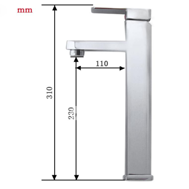 Brass Bathroom Faucets Modern Chrome Vessel Single Hole Modern