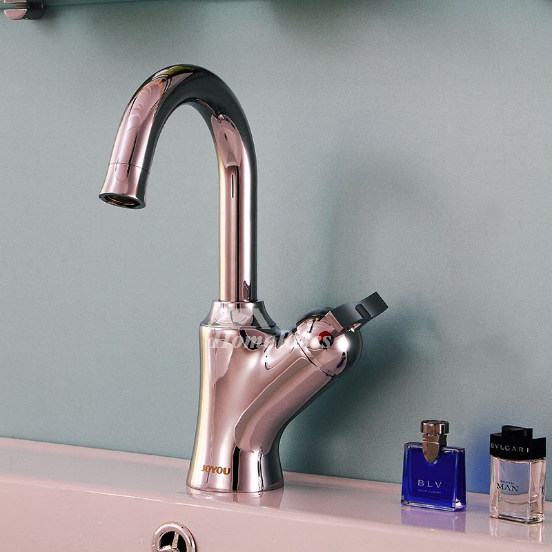 Vessel Sink Faucets Single Handle Brass Chrome Rotatable Modern