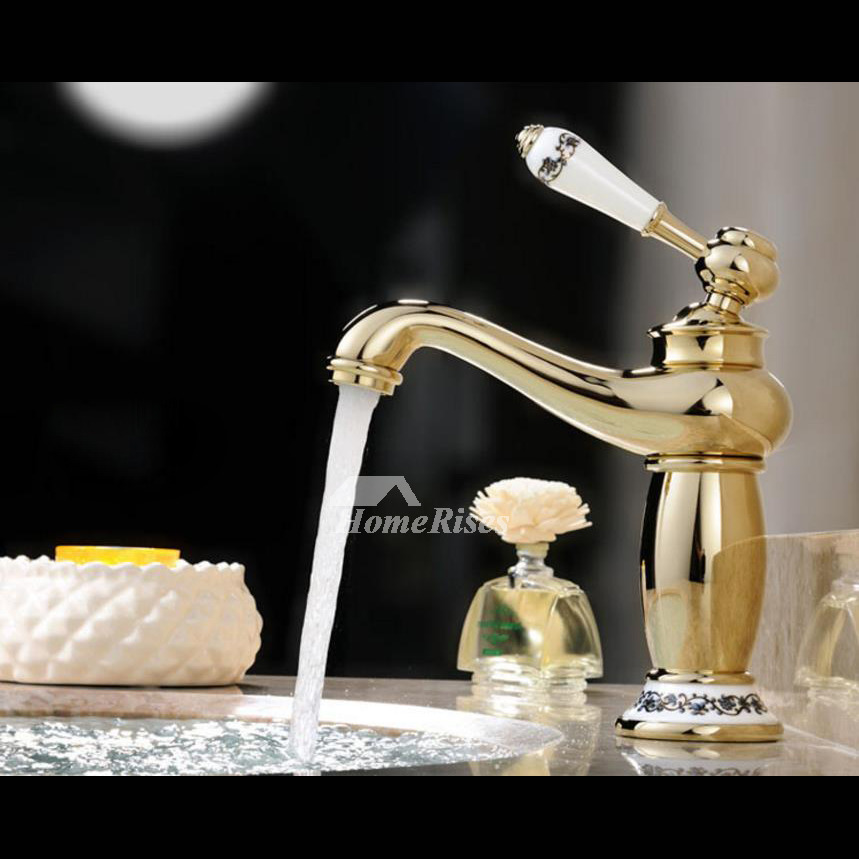 Discount Bathroom Faucets Polished Brass Single Handle Vessel
