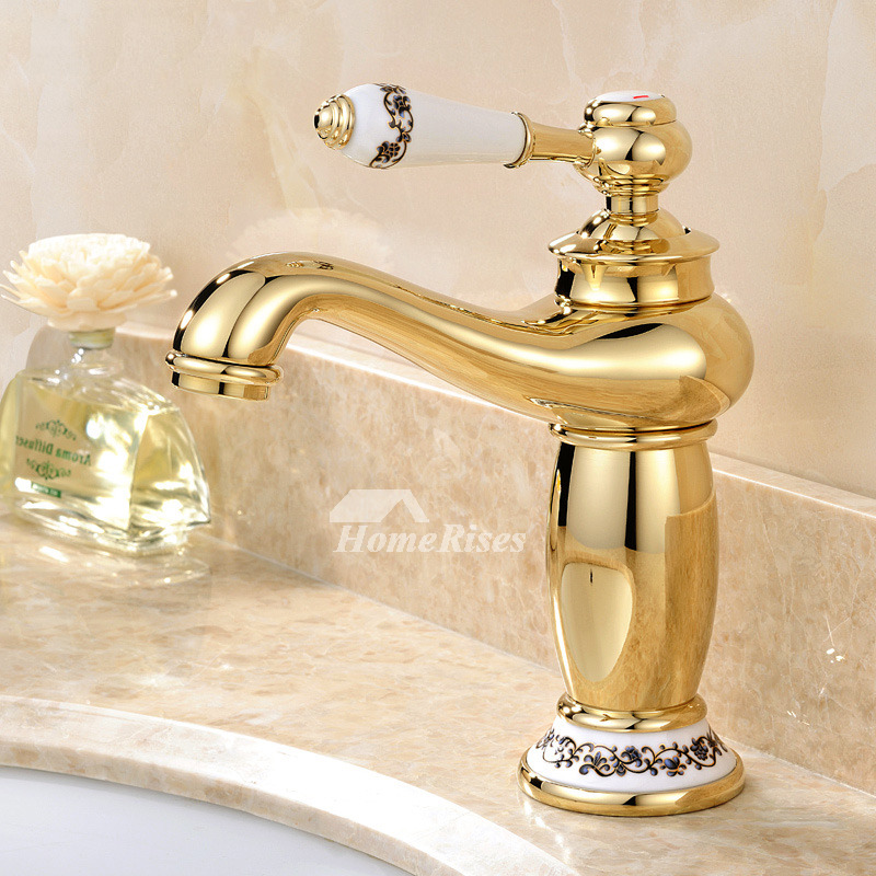 Bathroom Sink Faucets Cheap: Discount Bathroom Faucets Polished Brass Single Handle Vessel