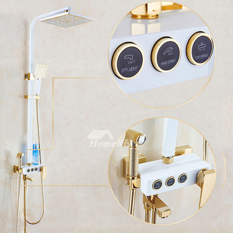 Best Shower Faucets Wall Mount White Painting Sidespray Modern