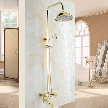 Shower Fixtures Gold Brass