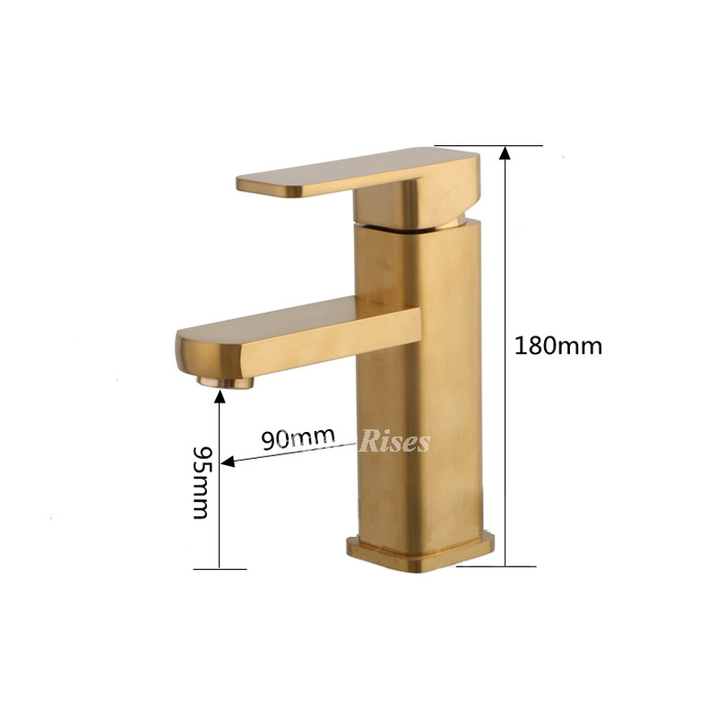 Vintage Brushed Brass Bathroom Faucet Bathroom Gold Vessel - Brushed brass bathroom faucets