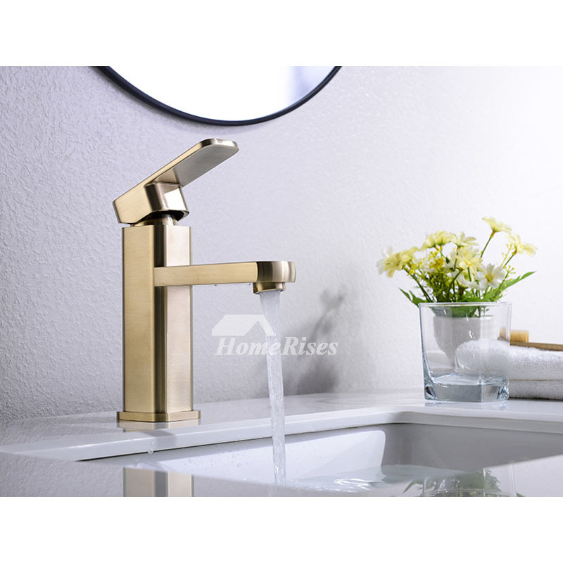 Brushed Brass Bathroom Faucet Bathroom Gold Vessel