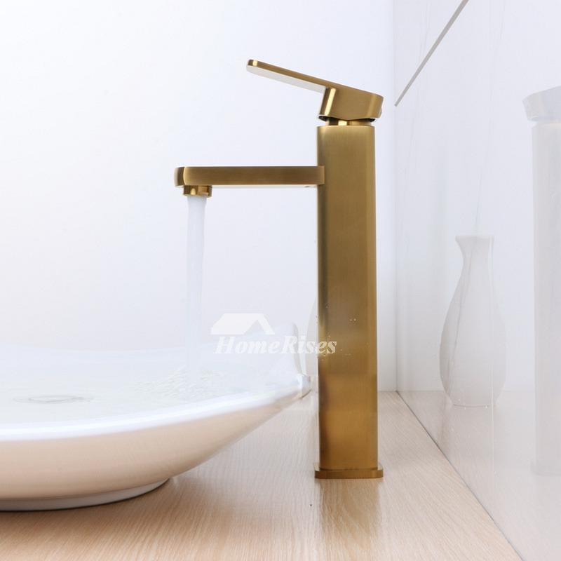 Vintage Brushed Brass Bathroom Faucet Bathroom Gold Vessel - Gold faucets bathroom fixtures