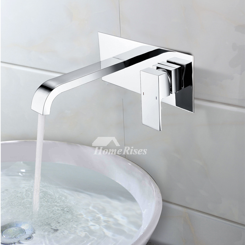 Wall Mount Bathroom Faucet Chrome Oil Rubbed Bronze Silver