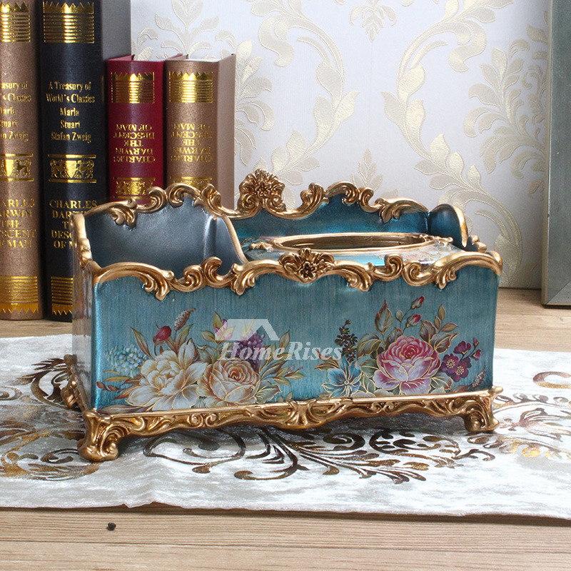 Decorative Tissue Box Resin Hand Made Vintage Facial Cover