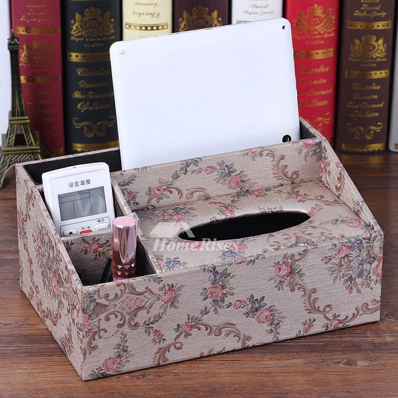 Creative Tissue Box Holder Rectangular Leather Living Room