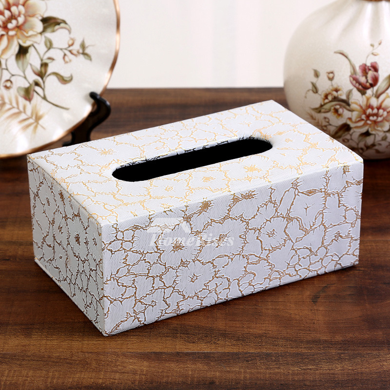 Rectangular Tissue Box Cover Leather Modern Crafts For Car