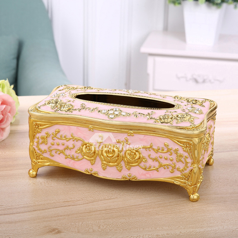 Best Luxury Silver Tissue Box Cover Gold Acrylic