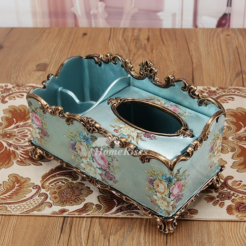 Decorative Tissue Box Cover Resin Modern Vintage Rustic