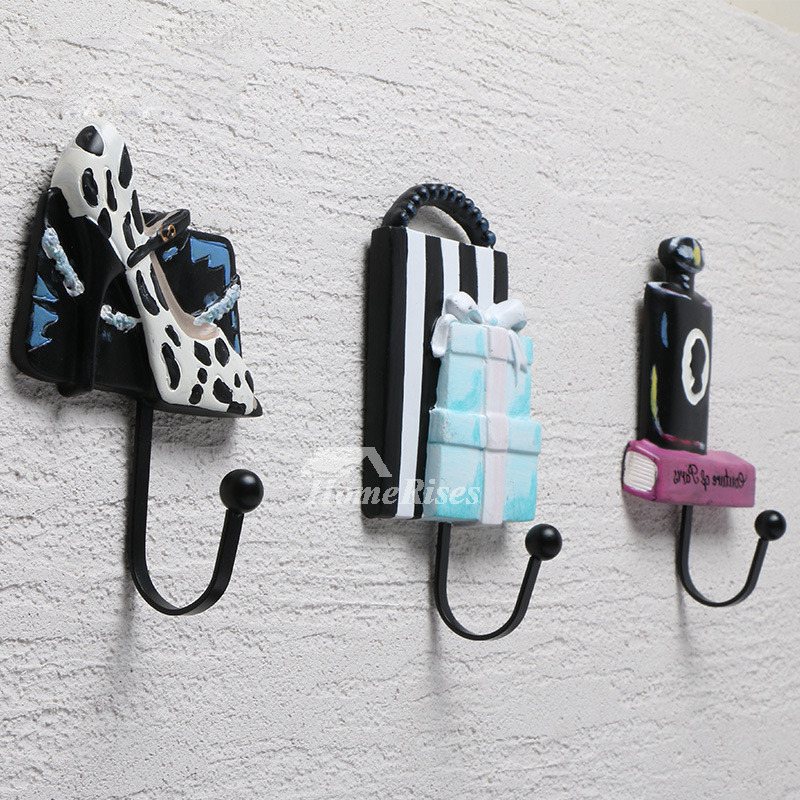 Decorative Wall Hooks For Hanging Set Fun Unique Resin