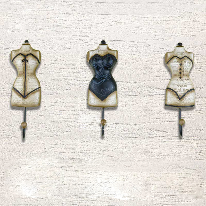 Unique Wall Hooks Resin Iron Decorative Hanger Cute Fun