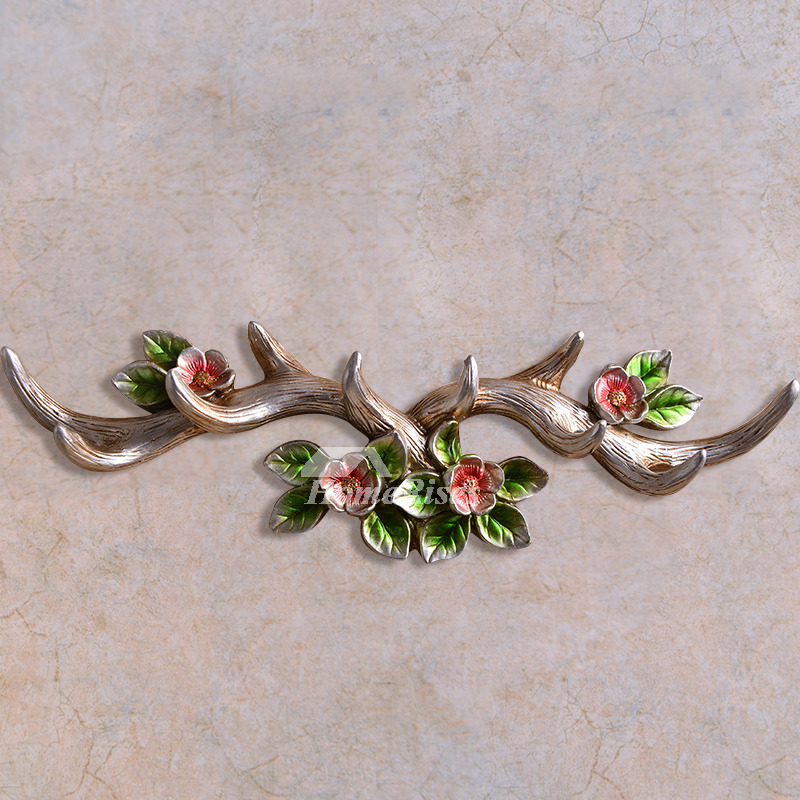 Vintage Wall Hooks Wall Mounted Antler Decorative Rustic