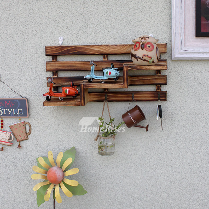 Key Hooks For Wall Wooden Rustic Decorative Fun Coat Living Room Best
