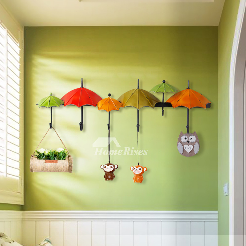 Unique Wall Hooks Iron Umbrella Painting Cast Iron Bedroom Key Coat