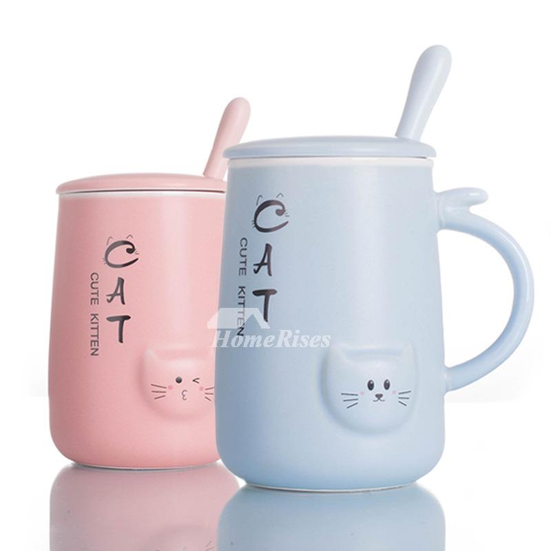 Kids Funny Cat Ceramic 400ml Tea