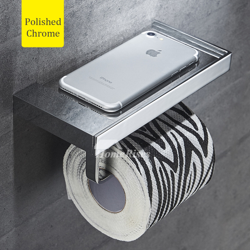 Silver Wall Mount Toilet Paper Holder