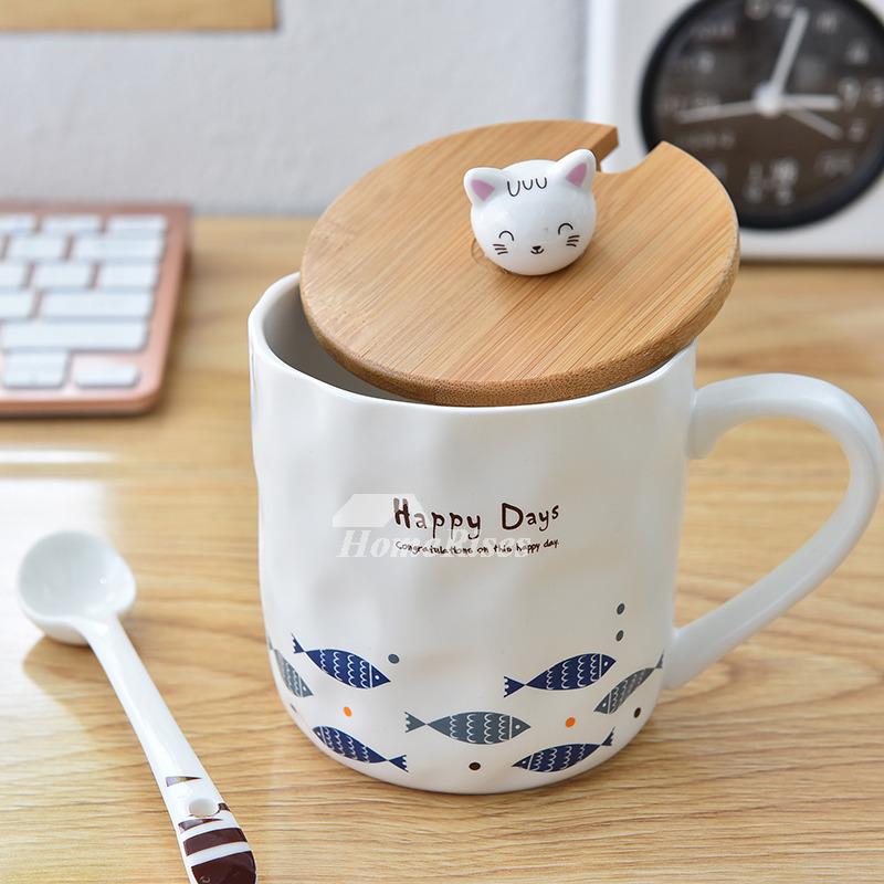 Best Coffee Mugs Ceramic Bamboo Personalized White ...
