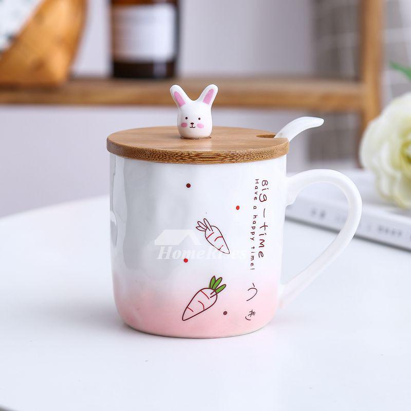 Funny Coffee Mugs Ceramic Bamboo Cute Unique Design