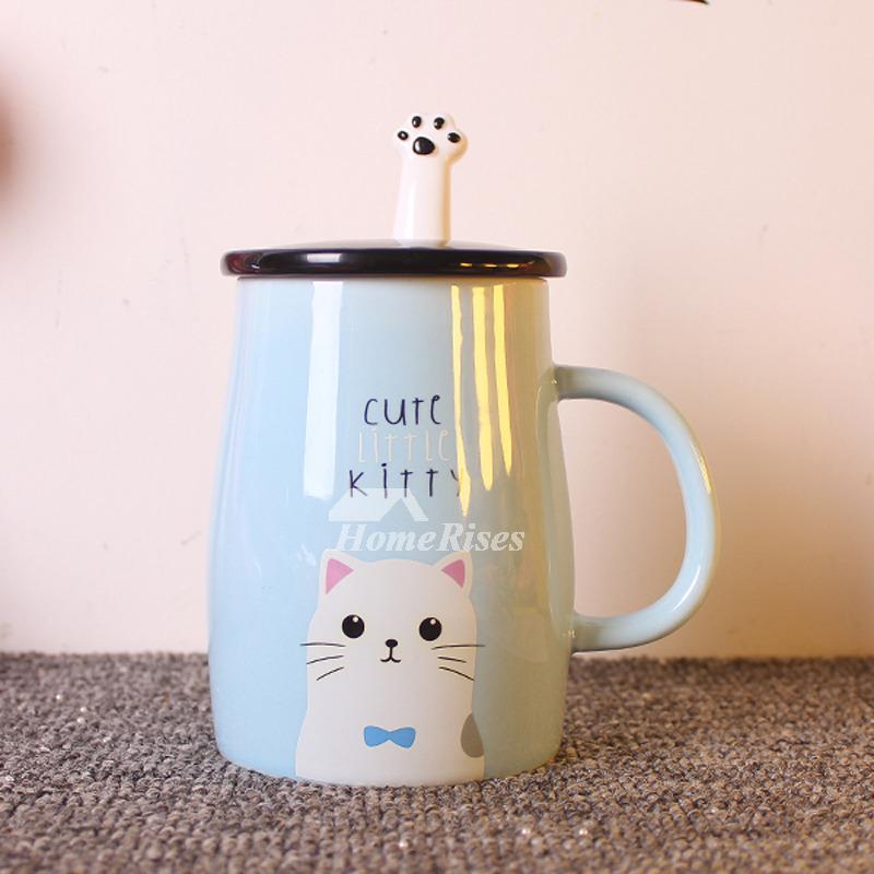 Cute Mugs Ceramic Best Cartoon Blue Yellow Wholesale