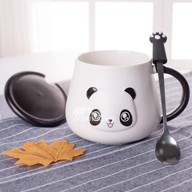 Unique Coffee Mugs Personalized Ceramic Unique Panda White