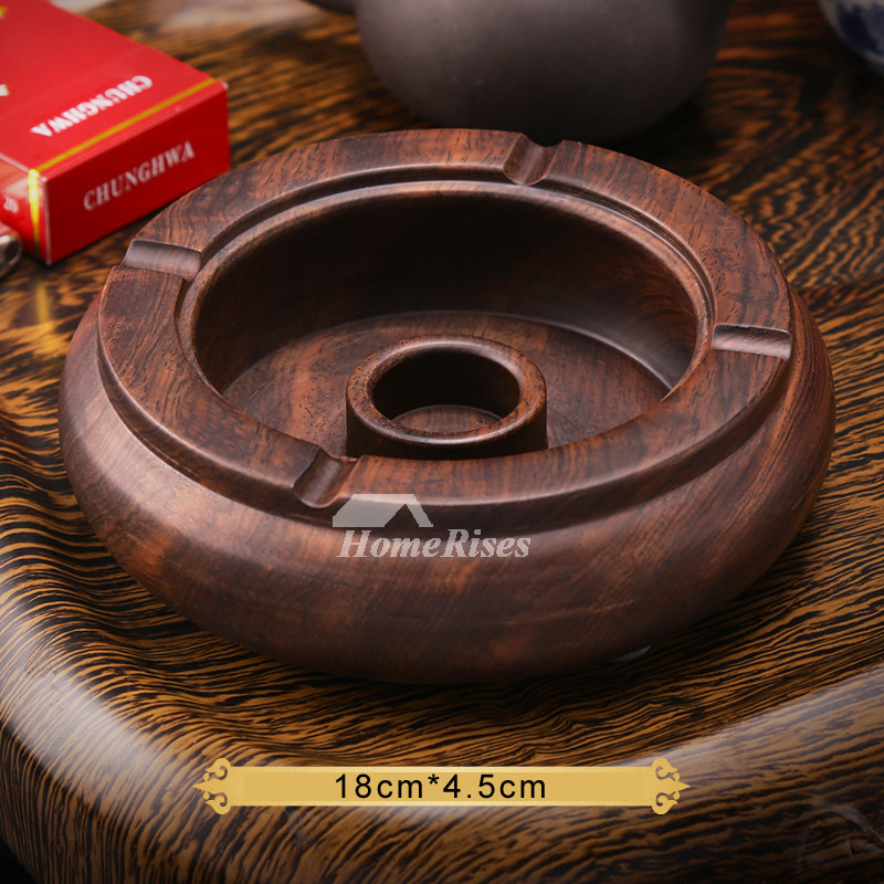 Unique Ashtrays Wooden Carved Brown Antique For Sale Designer