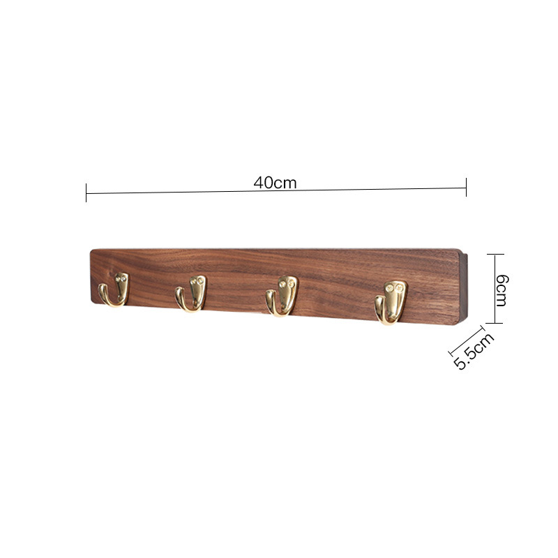 Towel Hooks For Bathroom Wooden Wall Mounted Brass