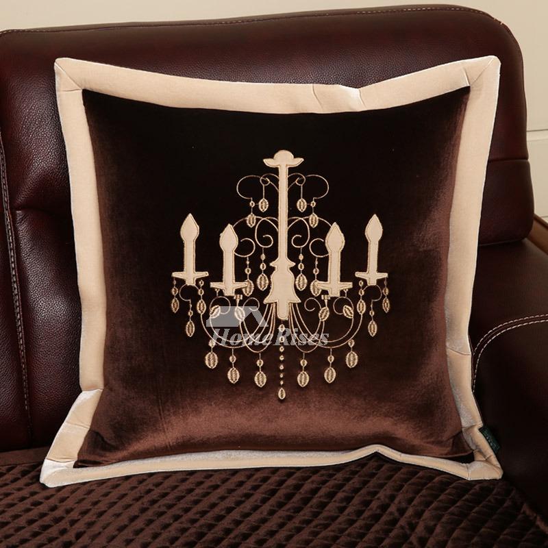 Unique Gold Throw Pillows Brown White Velvet Decorative Modern ...