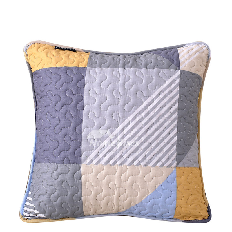 Decorative bed pillows cotton geometric square living room pillow core not included for Decorative accent pillows living room
